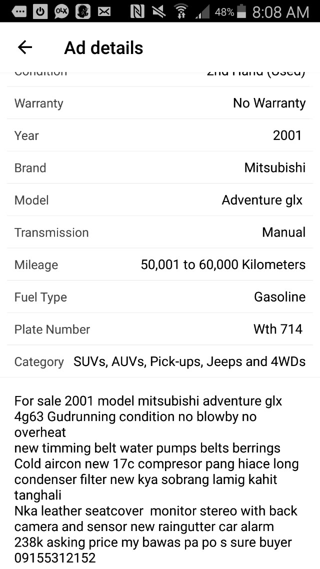 For Sale Mitsubishi Adventure Cars Cars For Sale On Carousell