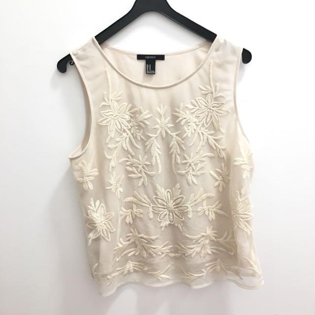 Forever 21 Lace Work Top