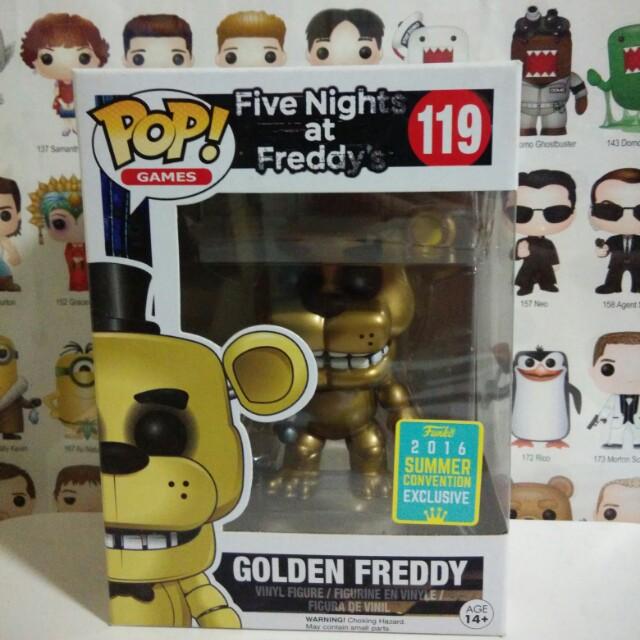 Funko Pop Golden Freddy SCE Exclusive Vinyl Figure Collectible Toy Gift SDCC
