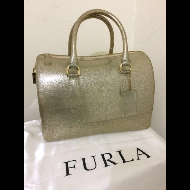 Furla Authentic Jelly Candy Bag Gold