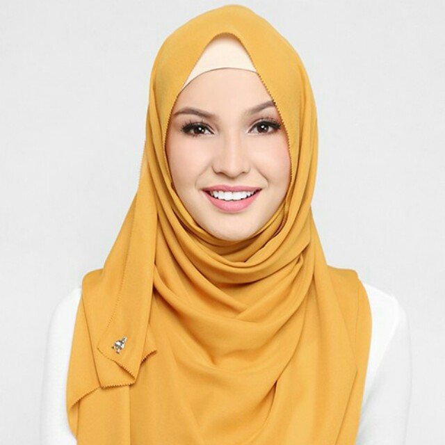 Geogette scarf in Honey ( authentic ) by Duckscarves
