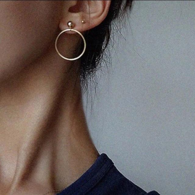 Gold /silver stud with hoop earrings