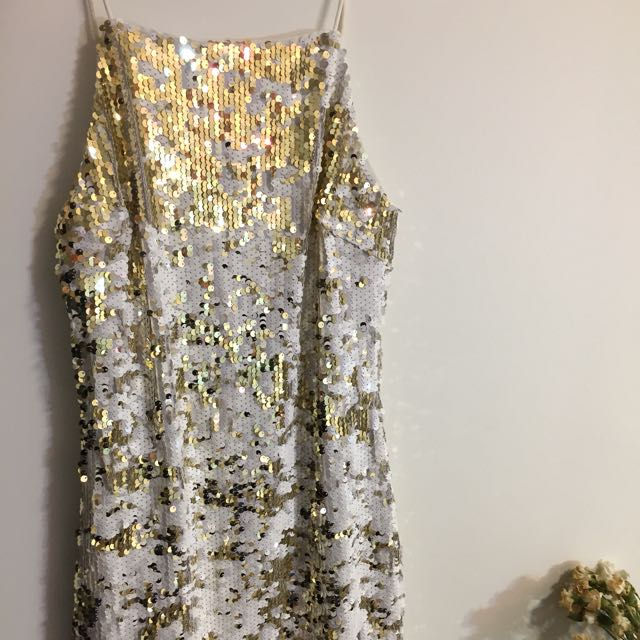 Gold/Silver Sequin Dress