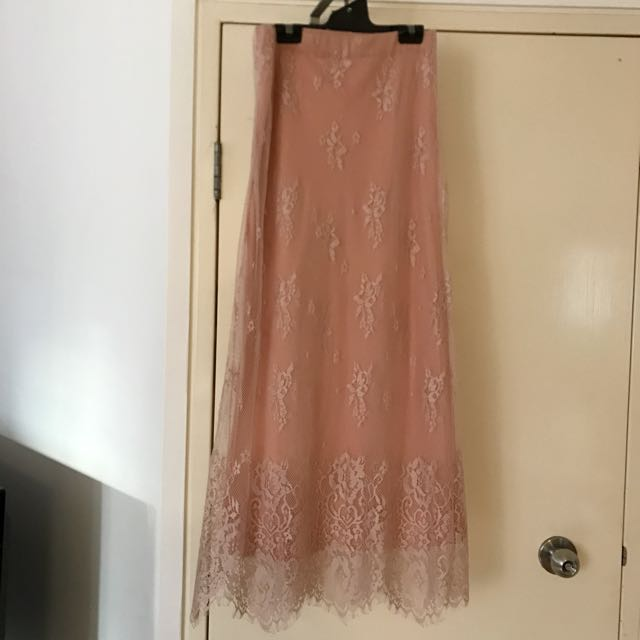 Handmade Lace Maxi Skirt
