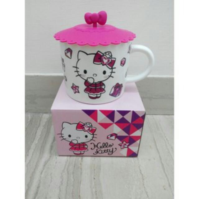 Hello Kitty 馬克杯,附蓋