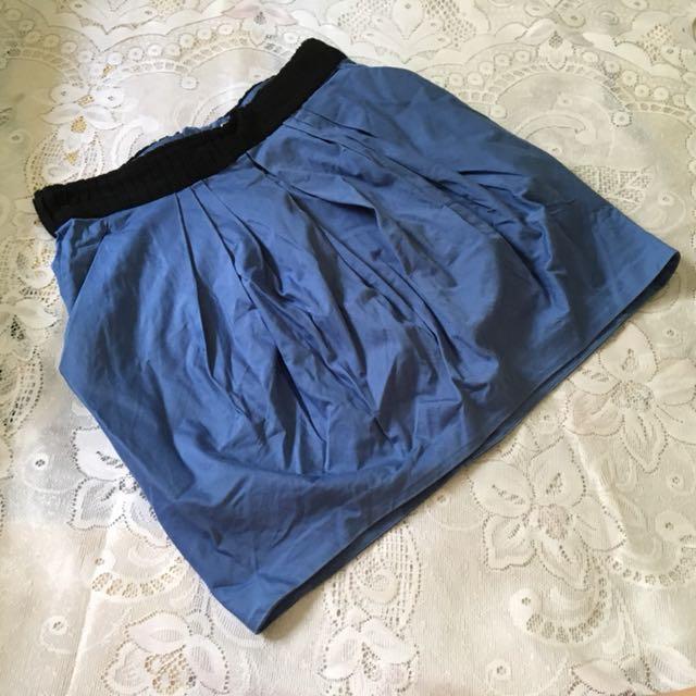 H&M Blue Bubble Skirt