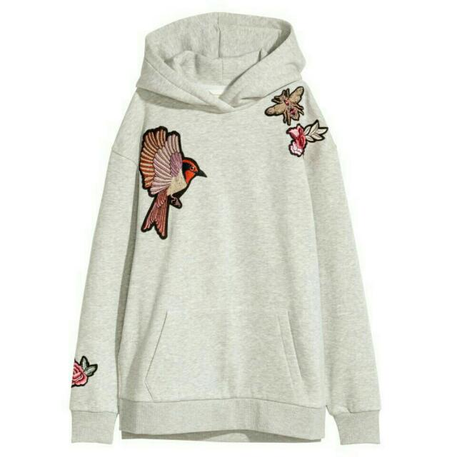 H&M Embroidery Hoodie