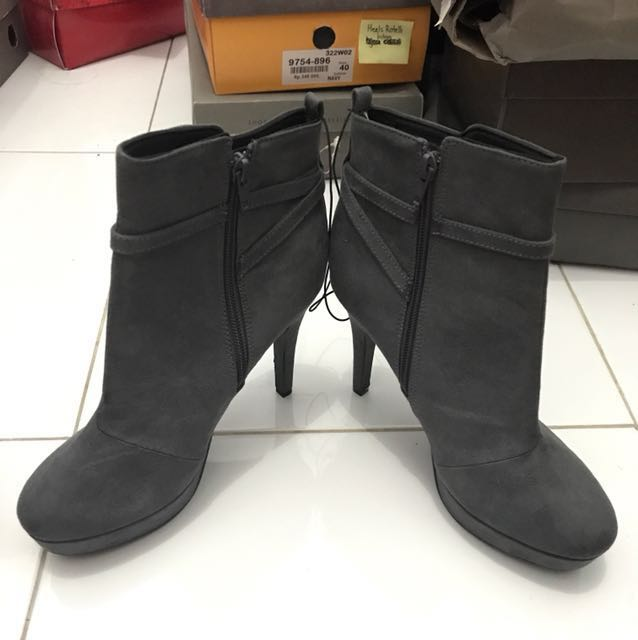 H&M Grey Boots Shoes size 38