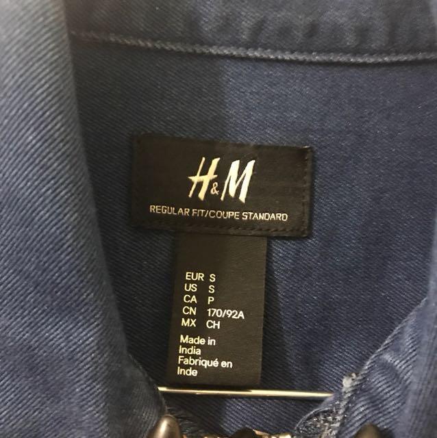 H&M Men's Denim Zip Jacket