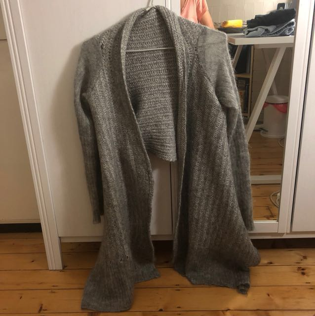 Husk Super Kid Mohair Cropped Knit Cardigan