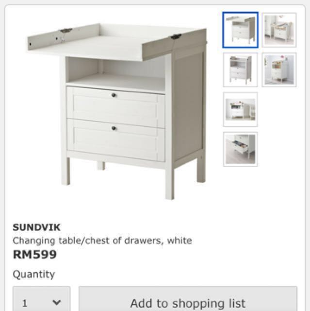 Ikea Changing Table Home Furniture