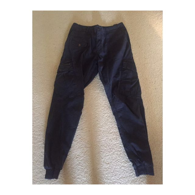 Industrie Navy Chinos Size 30