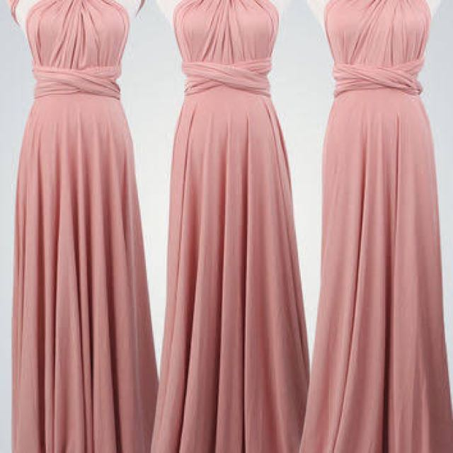 INFINITY DRESS in Rose Nude