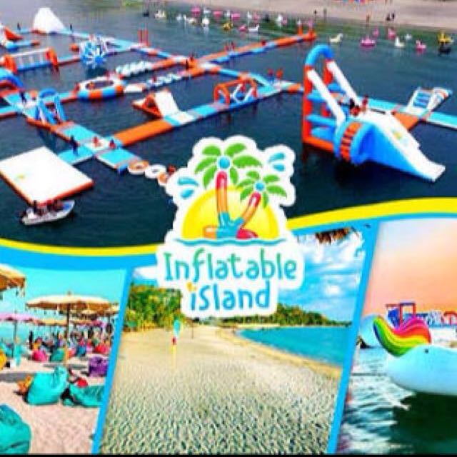 INFLATABLE ISLAND VOUCHER FOR 2 PAX FOR 1,500 INSTEAD OF 2,198