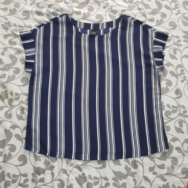 IORA Blue Silk Blouse