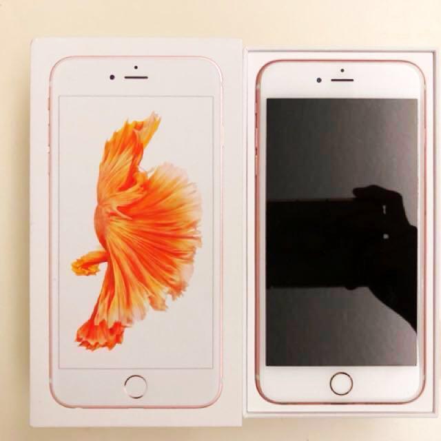 iPhone 6s plus 64g 玫瑰金二手自用機(保留)