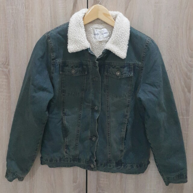 Jeans Jacket Wool Inside