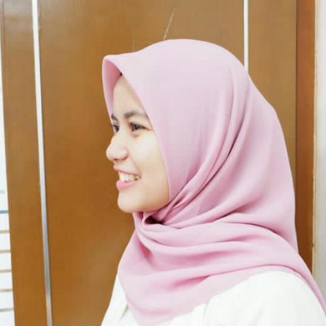 Jilbab polly cotton (light pink)