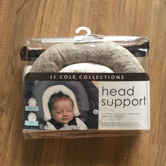 JJ COLE infant insert head support graphite grey