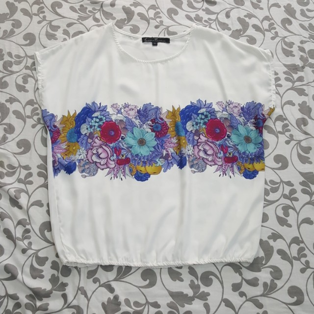 Kamiseta Loose Floral Top