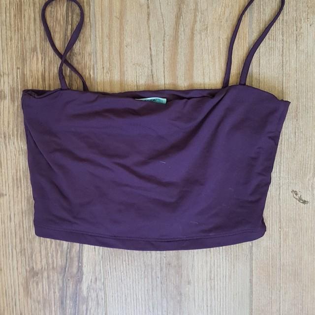 Kookai purple crop top