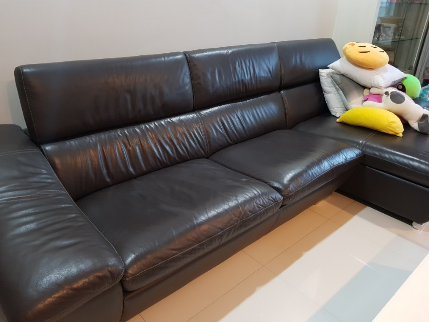 Leather Sofa On Carousell