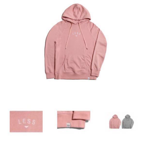 Less hoodie pink S號