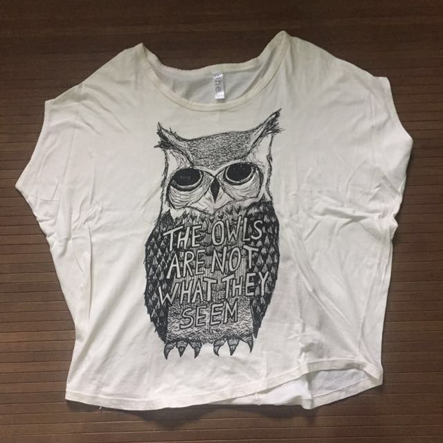 Loose blouse With owl Print