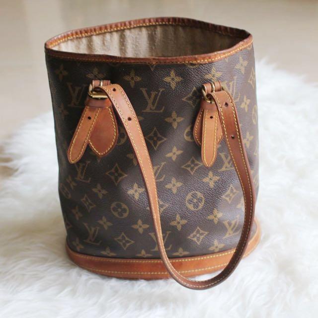 Louis Vuitton Monogram Petite Bucket Bag