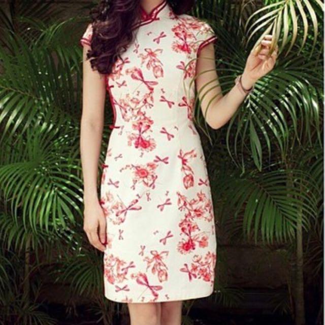 Mandarin peony dress cheong sam