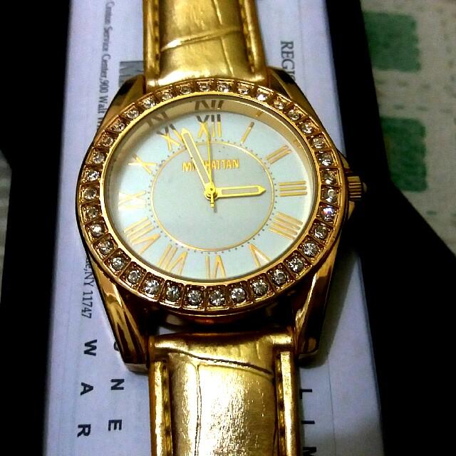 Manhattan Ladies Gold Quartz Watch Women S Fashion Watches On