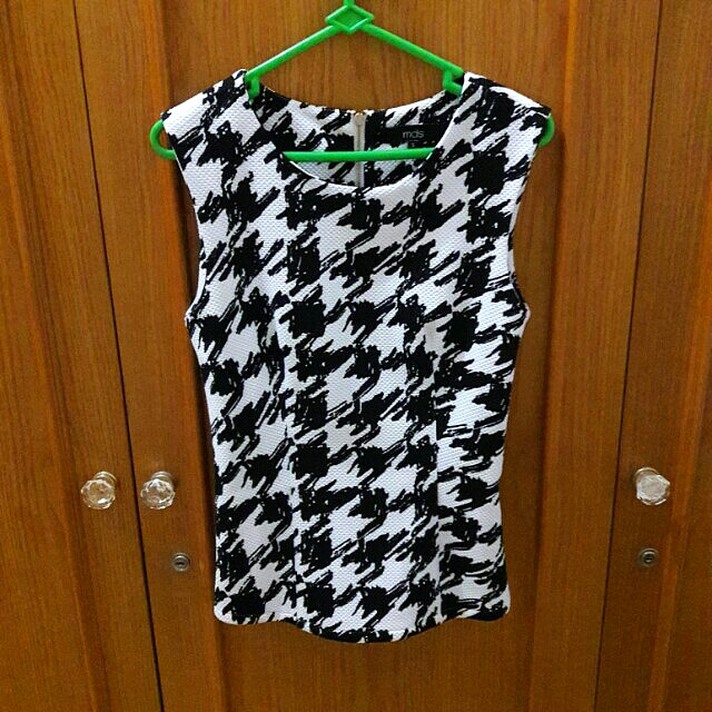 MDS Houndstooth Top