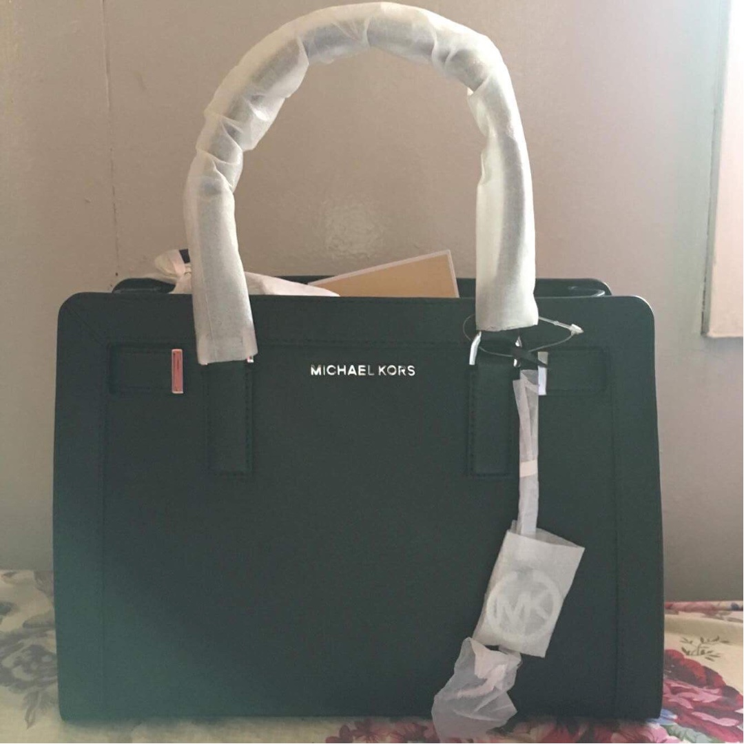 8ce87cf20f5232 sweden michael kors black leather medium satchel negotiable price preloved  womens fashion bags wallets on carousell