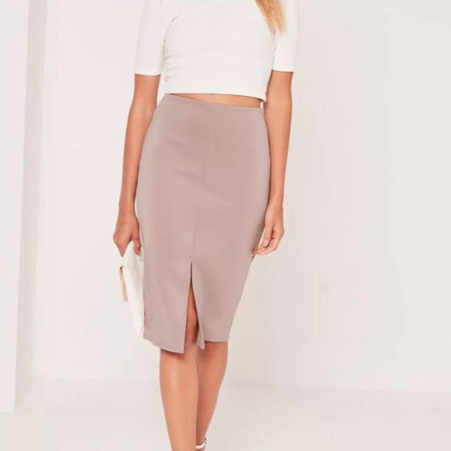 Misguided lilac midi skirt