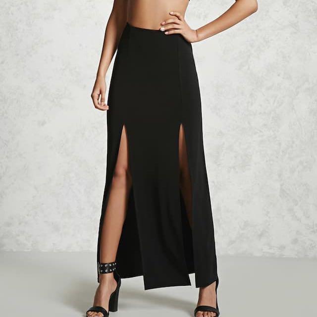 M-Slit Maxi Skirt