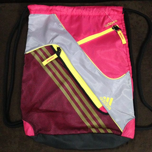New:Authentic ADIDAS string pink bag