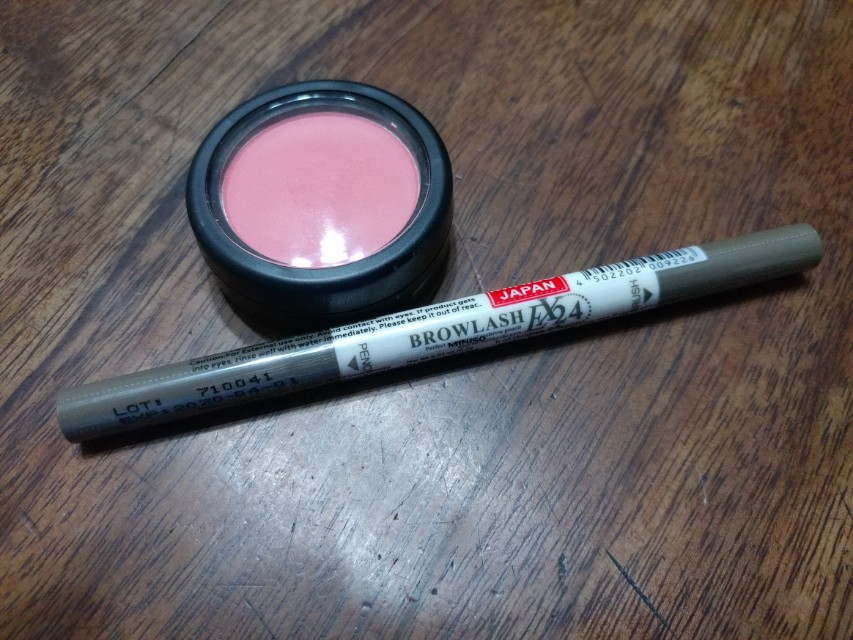 Nichido Blush/Miniso Eyebrow Pencil