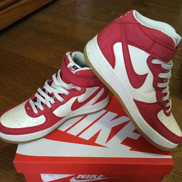 日本購回🇯🇵NIKE Air Force 高筒紅色休閒鞋