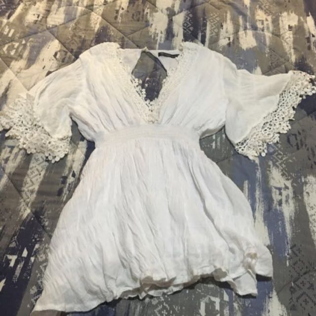Off white cover up/dress