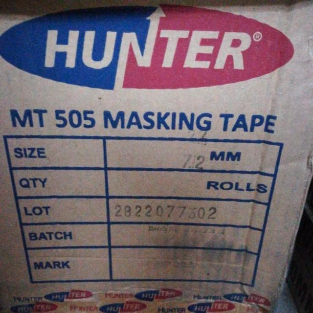 One Carton Six Tubes Hunter Masking Tape 22 Yards