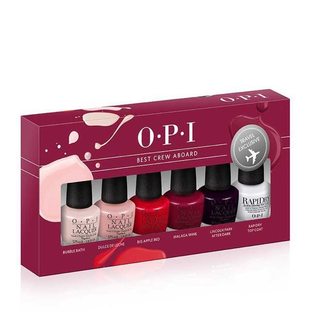 OPI best crew aboard mini nail polish/lacquer set, Health & Beauty ...
