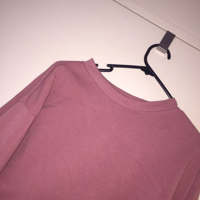 Oversized pink hoddie