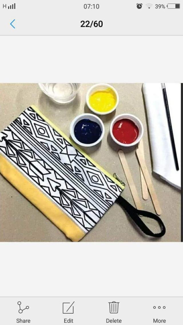Paint Your Own Pencil Case