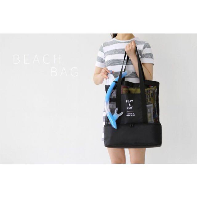 Picnic wet dry cooler bag