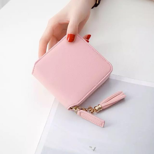 PINK COMPACT WALLET