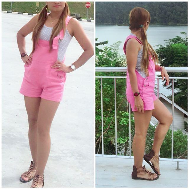Pink shirt jumper