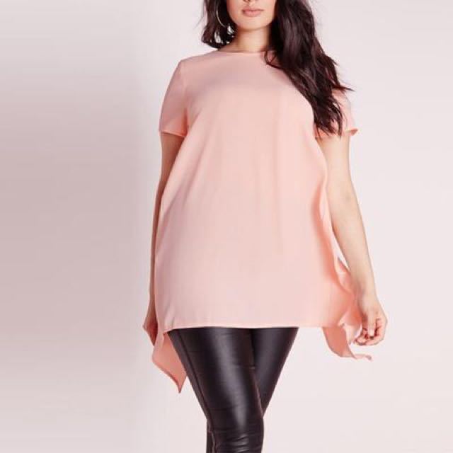 Plus Size Casual Loose Solid Tees Summer Shirt Dress