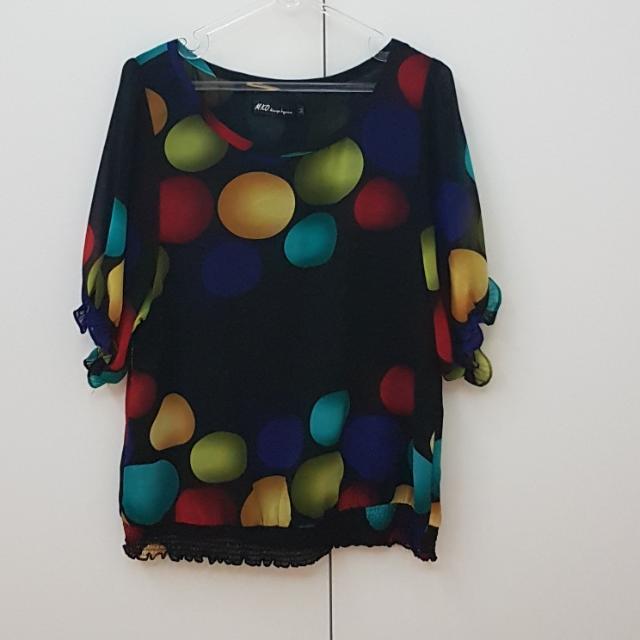 Polkadot Black Shirt
