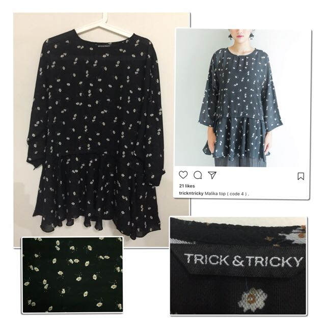 Preloved #trickandtricky (local brand) - Malika Top