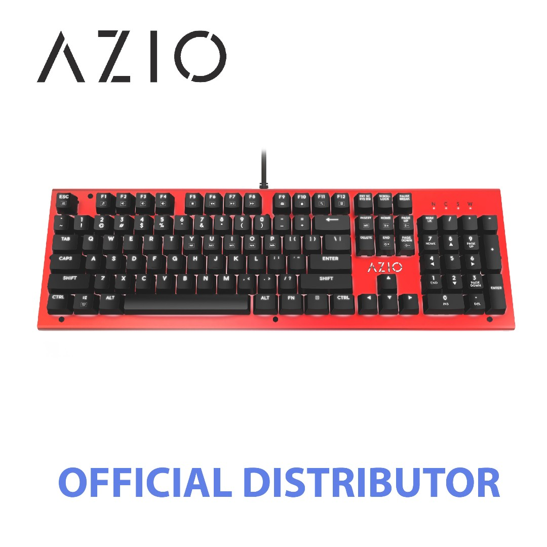 Azio Mk Hue Backlit Brown Switch Mechanical Keyboard Red Steelseries Apex M650 Rgb Electronics Computer Parts Accessories On Carousell